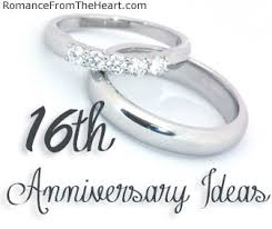 16th wedding anniversary gifts 16th anniversary ideas romancefromtheheart