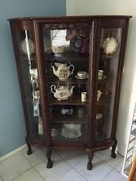 vintage corner china cabinet very rare antique corner china cabinet claw foot bow glass ebay