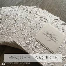 wedding invitations sydney white cherry invitations handmade wedding invitations in sydney