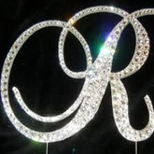 letter n swarovski crystal monogram cake topper swarovski