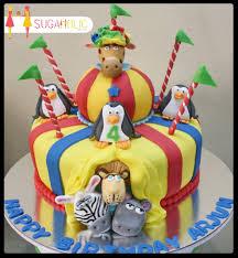 madagascar 3 circus themed cake cakecentral