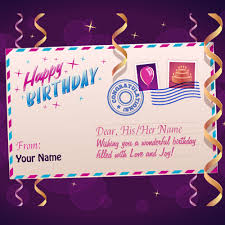 happy birthday postcards happy birthday postcard greeting with your name