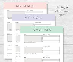 Smart Goals Worksheets Goal Template Goal Planner Printable Life Goals Printable