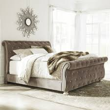 Ashley Furniture Upholstered Bed Ashley Furniture Cassimore Upholstered Bed In Grey King Local