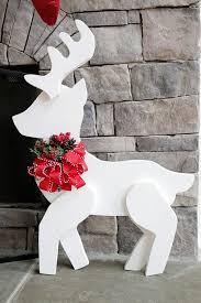 Reindeer Christmas Decoration Template by Best 25 Wooden Reindeer Ideas On Pinterest Christmas Garden