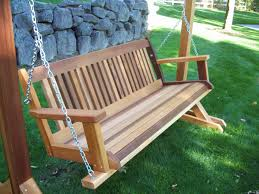 Swing Patio Chair by Furniture Charming Wooden Porch Swings With Iron String And A