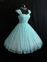 vintage 1950 u0027s 50s turquoise blue ruched chiffon organza party