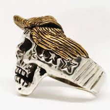 gold skull rings images Trump skull stainless steel with 18k gold plated hair ring jpg