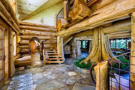 log house make myself at home log cabin mansion estate on highway 101