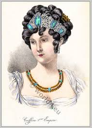 women of france hair styles coiffure 1er empire france 1804 costume history