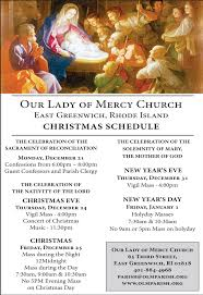christmas season mass schedule u2014 our lady of mercy