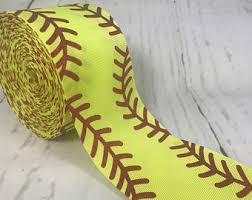 softball ribbon by the yard softball ribbons etsy
