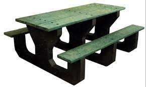 leisure craft picnic tables leisure craft inc permanent mount perforated picnic tables