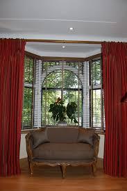 decoration beautiful red bay window curtain ideas stylish bay