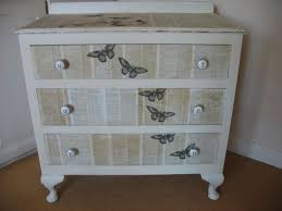 shabby chic decoupaged 3 drawer chest painted vintage antique