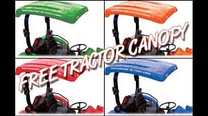 Lawn Tractor Canopy by Free Tractor Canopy Giveaway Youtube