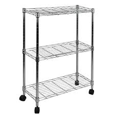 Home Depot Cart by Oceanstar 9 In W 3 Tier Shelving All Purpose Utility Cart In