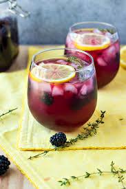 blackberry lemon vodka punch