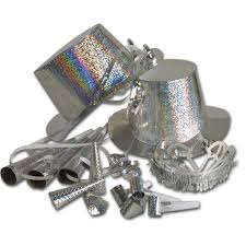 new years party packs silver holographic new years party pack peeks