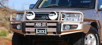 toyota land cruiser arb arb 3413190 deluxe bull bar w winch mount for toyota land cruiser