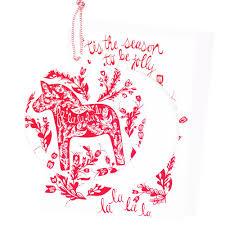 dala ornament card reyn paper co