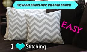 How To Make A Slipcover For A Couch Sew An Envelope Pillow Cover Beginner Youtube