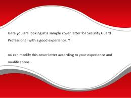 free sample cover letter security guard