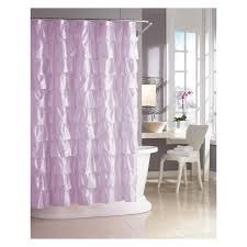 Pink And Grey Shower Curtain by Bathroom Awesome Ruffle Shower Curtain For Decoration Bathroom