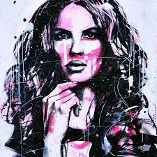 Urban Art Style - unique artwork urban lady from the artist graffmatt street art style