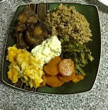 thanksgiving candied yam recipe oxtails mac u0026 cheese potato salad collard greens pigeon peas