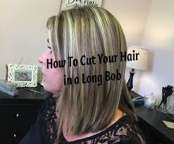 how to cut angled bob haircut myself diy long bob haircut tutorial how to cut your own hair in a long
