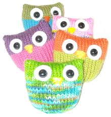Decorative Owls by Owl Knitting Patterns In The Loop Knitting