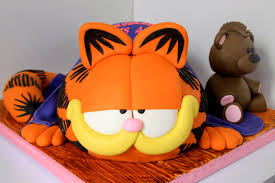 Halloween Cat Cake by Celebrate With Cake Garfield Cake