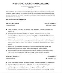 Cv And Resume Samples by 51 Teacher Resume Templates U2013 Free Sample Example Format