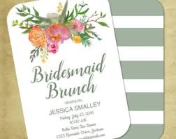 bridesmaids luncheon invitations bridal lunch invite etsy
