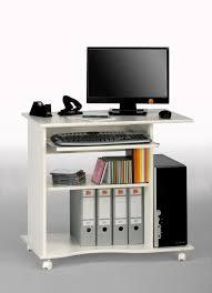 Kleiner Schreibtisch Auf Rollen Computertisch Weiß Abmessungen Bxhxt 80 X 75 X 50 Cm Von Maja