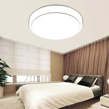 led lights for bedrooms floureon 18w 1600 lumens round led ceiling light for bedroom