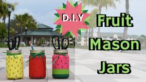 bentley watermelon d i y college decor campus crafts 3 painted fruit mason jars
