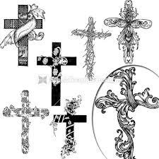 vector religious cross design collection vector files