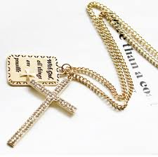 all gold cross necklace images Fashion cool gold cross square plate long pendant necklace jpg