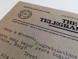 how do you send a telegram can t make the wedding send them a wedding telegram instead the