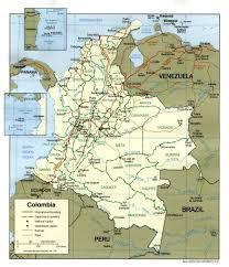 Map Of Western Hemisphere Colombia Cja