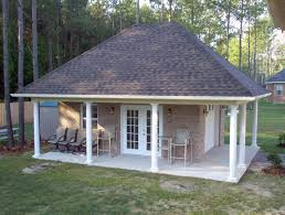 Hipped Roof House Plans Pool Houses