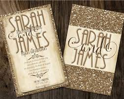 wedding invitations glitter 16 best chagne glitter wedding invitations images on