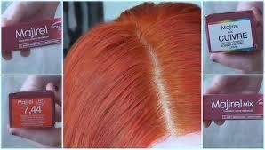 dying my hair copper red l u0027oréal majirel 7 44 youtube