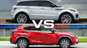 lexus nx300h vs mercedes glc 2015 range rover evoque vs 2015 lexus nx youtube