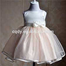 2015 peach color baby girls party wear dress for birthday baby