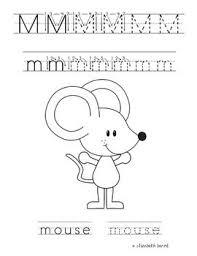 number names worksheets letter m activities for kindergarten