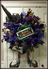 Halloween Mesh Wreaths by Primitive Witch Deco Mesh Wreath By Twentycoats Wreath Creations