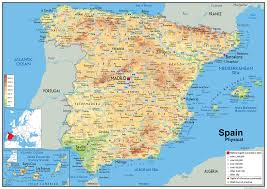 physical map of spain spain physical map i maps